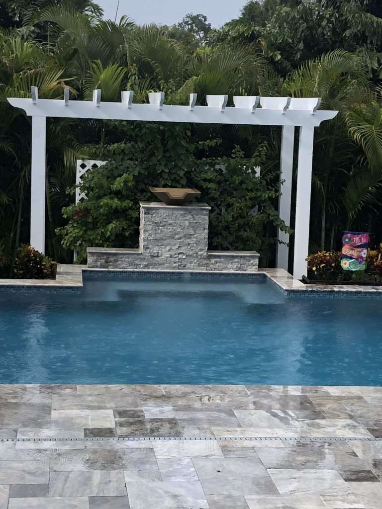 Raised Water Feature with bowl spill over